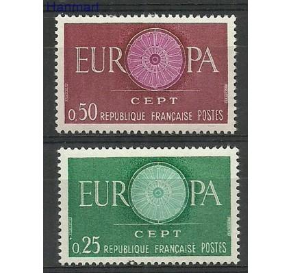 Znaczek Francja 1960 Mi 1318-1319 Z podlepką *