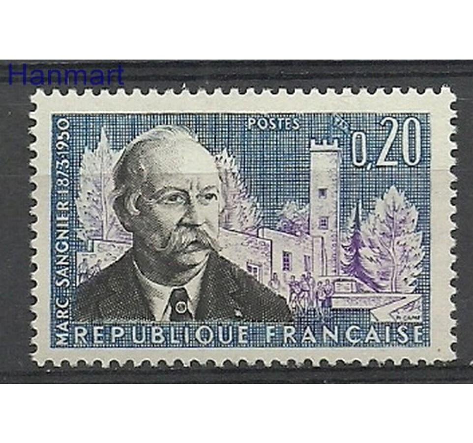 Francja 1960 Mi 1324 Z podlepką *