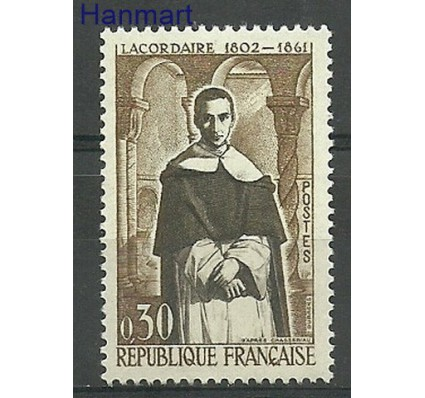 Znaczek Francja 1961 Mi 1341 Z podlepką *