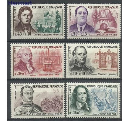 Znaczek Francja 1961 Mi 1349-1354 Z podlepką *