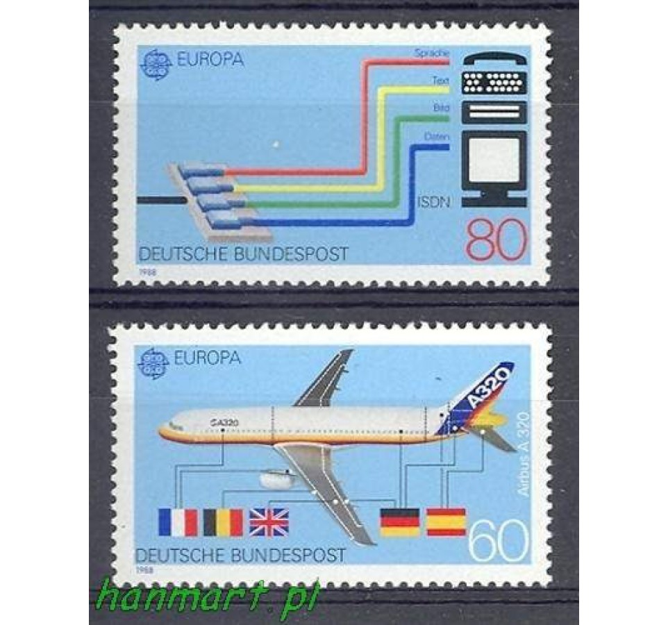 Niemcy 1988 Mi 1367-1368 Czyste **