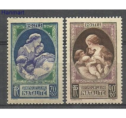 Znaczek Francja 1939 Mi 455-456 Z podlepką *