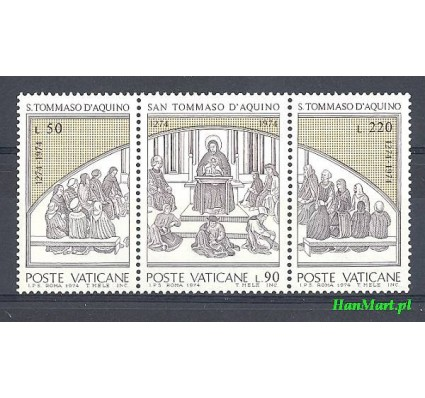Watykan 1974 Mi 640-642 Czyste **