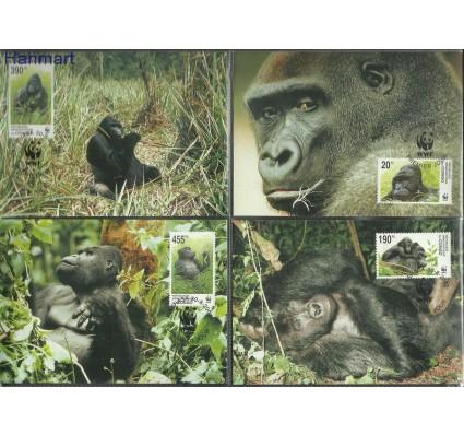 Znaczek Kongo Kinszasa / Zair 2002 Mi 1708-1711 Karta Max