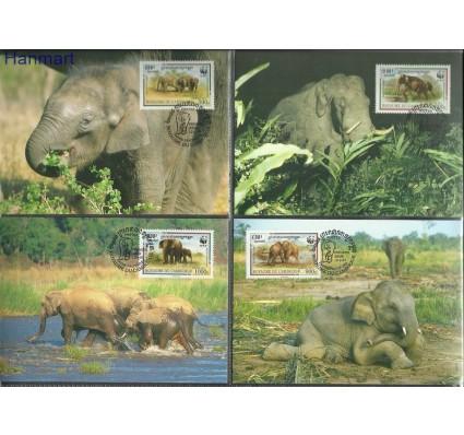 Znaczek Kambodża 1997 Mi 1680-1683 Karta Max