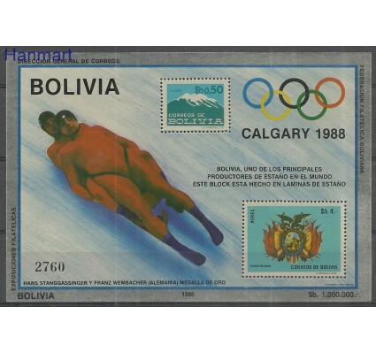 Znaczek Boliwia 1986 Mi bl 156 Czyste **