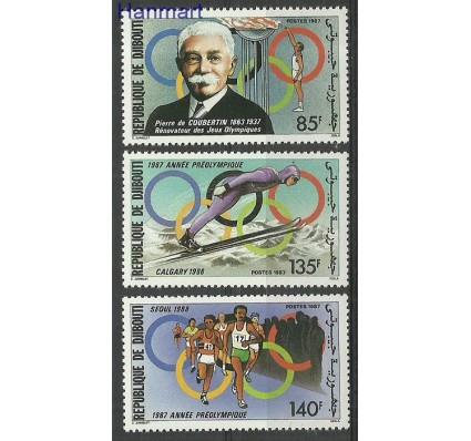 Znaczek Dżibuti 1987 Mi 495-497 Czyste **