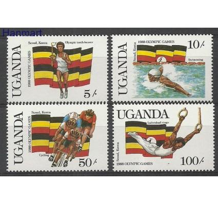Uganda 1987 Mi 534-537 Czyste **