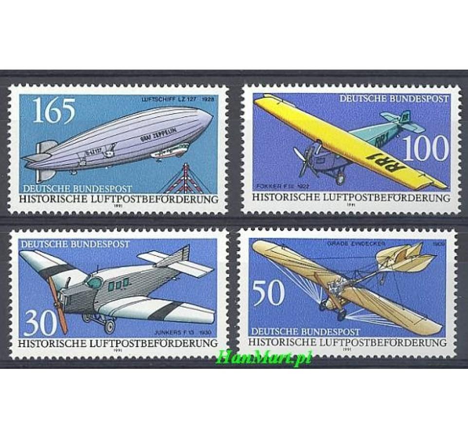 Niemcy 1991 Mi 1522-1525 Czyste **