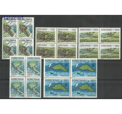 Znaczek Wyspy Owcze 1978 Mi 31-35 Czyste **