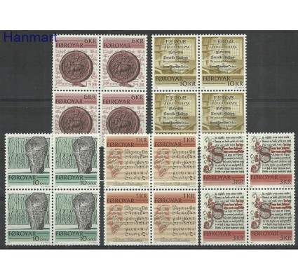 Znaczek Wyspy Owcze 1982 Mi 65-69 Czyste **