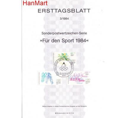 Znaczek Berlin Niemcy 1984 Pierwszy dzień wydania