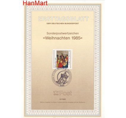 Znaczek Berlin Niemcy 1985 Pierwszy dzień wydania