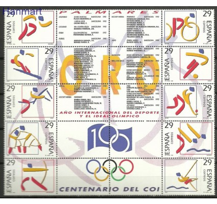 Znaczek Hiszpania 1994 Mi zbl 3182-3191 Czyste **