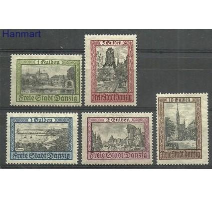 Znaczek Wolne Miasto Gdańsk 1924 Mi 207-211 Z podlepką *