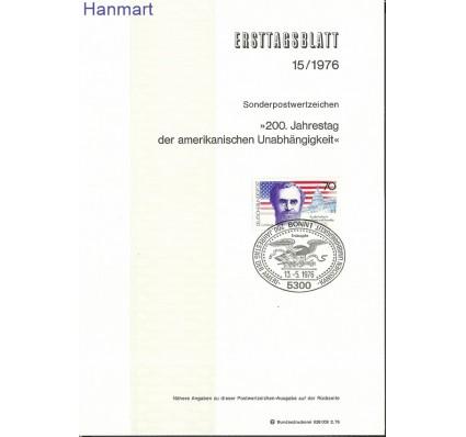 Znaczek Niemcy 1976 Pierwszy dzień wydania