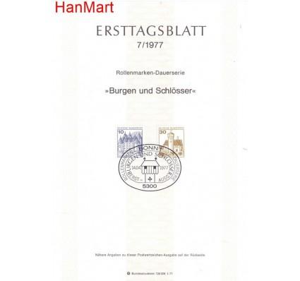 Znaczek Niemcy 1977 Pierwszy dzień wydania
