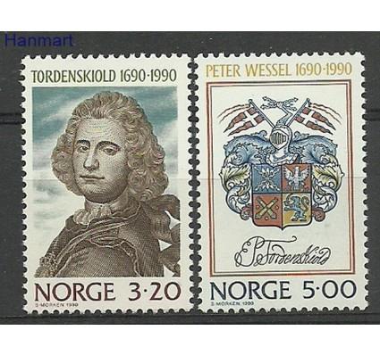Znaczek Norwegia 1990 Mi 1048-1049 Czyste **