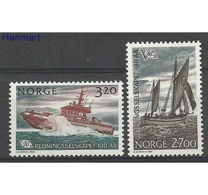 Znaczek Norwegia 1991 Mi 1066-1067 Czyste **