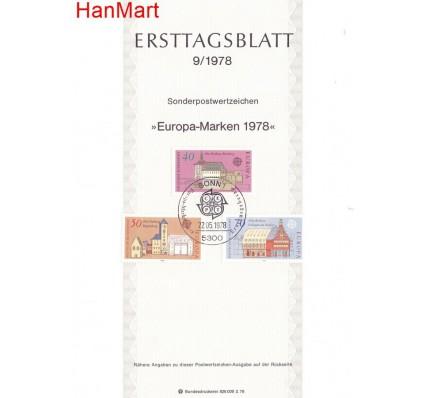 Znaczek Niemcy 1978 Pierwszy dzień wydania