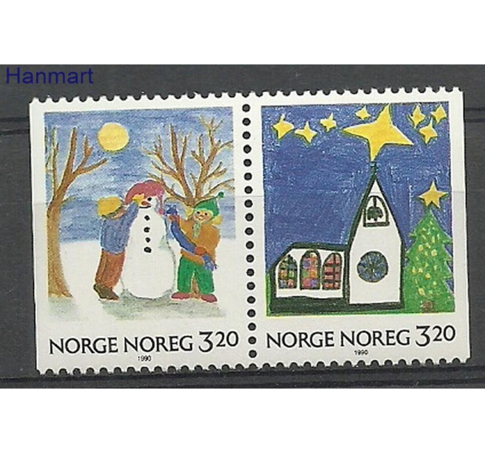 Norwegia 1990 Mi 1057-1058 Czyste **