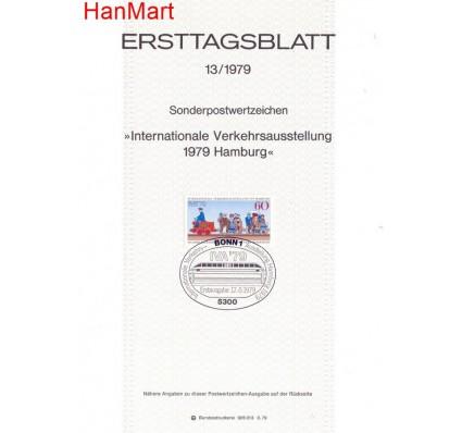 Znaczek Niemcy 1979 Pierwszy dzień wydania