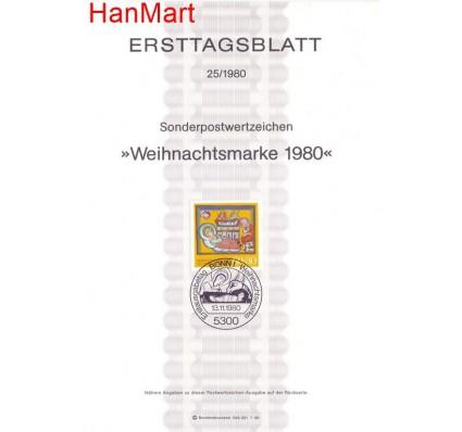 Znaczek Niemcy 1980 Pierwszy dzień wydania