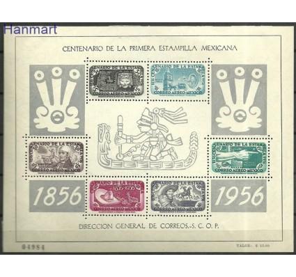 Znaczek Meksyk 1956 Mi bl2 Z podlepką *