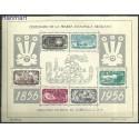 Meksyk 1956 Mi bl2 Z podlepką *