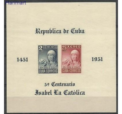 Znaczek Kuba 1952 Mi bl 10 Czyste **