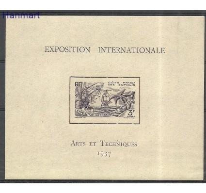 Znaczek Somali Francuskie 1937 Mi bl1 Czyste **