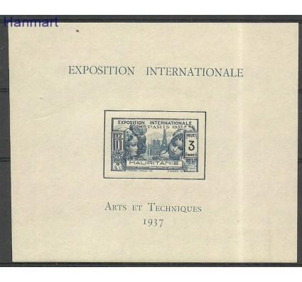 Znaczek Mauretania 1937 Mi bl1 Czyste **