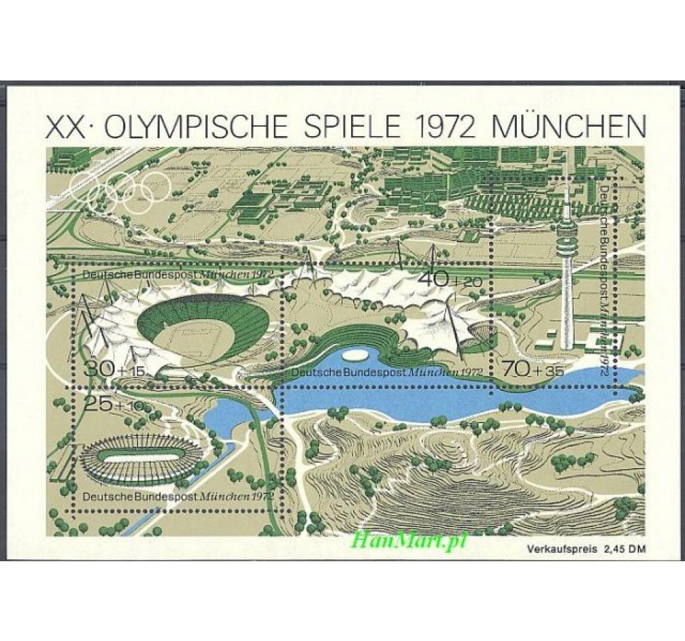 Niemcy 1972 Mi bl 7 Czyste **