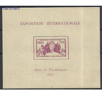 Znaczek Indie Francuskie 1937 Mi bl1 Czyste **