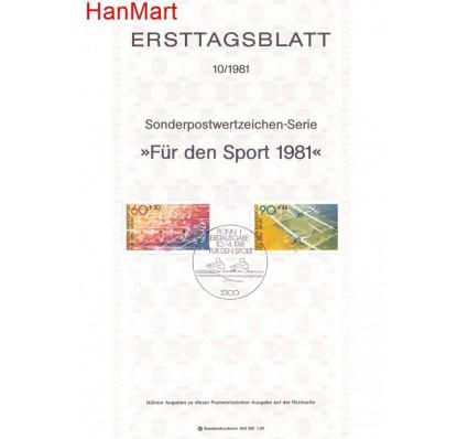 Znaczek Niemcy 1981 Pierwszy dzień wydania