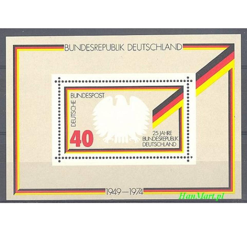 Niemcy 1974 Mi bl 10 Czyste **