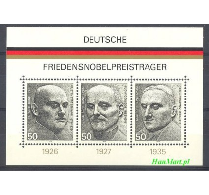 Znaczek Niemcy 1975 Mi bl 11 Czyste **