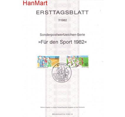 Znaczek Niemcy 1982 Pierwszy dzień wydania