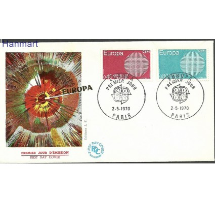 Znaczek Francja 1970 Mi 1710-1711 FDC
