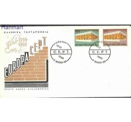 Znaczek Grecja 1969 Mi 1004-1005 FDC