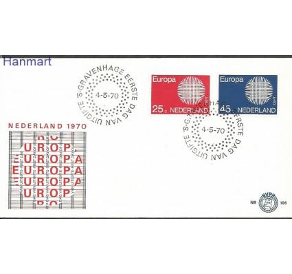 Znaczek Holandia 1970 Mi 942-943 FDC