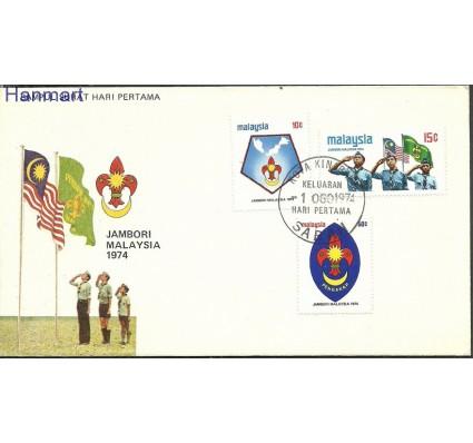 Znaczek Malezja 1974 Mi 116-118 FDC