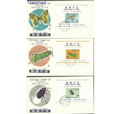 Znaczek Korea Południowa 1966 Mi bl233-235 FDC