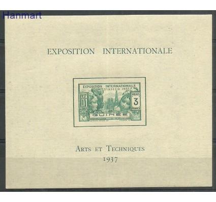 Znaczek Gwinea Francuska 1937 Mi bl1 Czyste **