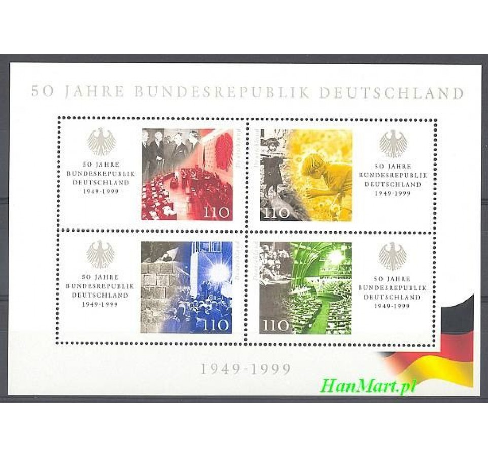 Niemcy 1999 Mi bl 49 Czyste **