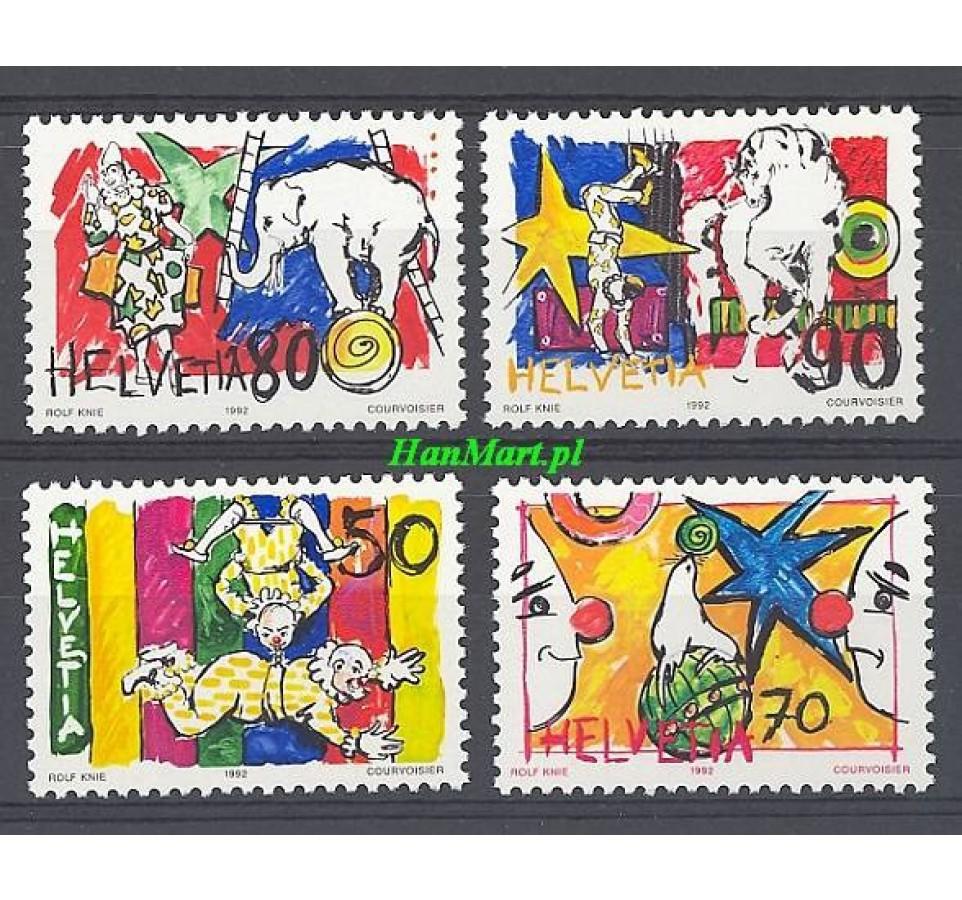 Szwajcaria 1992 Mi 1478-1481 Czyste **