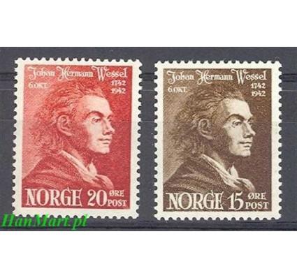 Znaczek Norwegia 1942 Mi 272-273 Czyste **