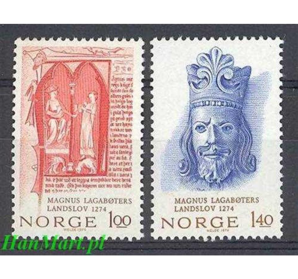 Norwegia 1974 Mi 683-684 Czyste **