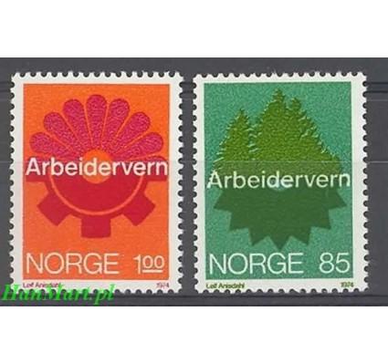 Norwegia 1974 Mi 685-686 Czyste **