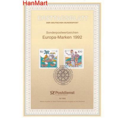 Znaczek Niemcy 1992 Pierwszy dzień wydania
